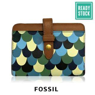 AUTHENTIC FOSSIL LEATHER BI FOLD WALLET (SEQUIN) FS083