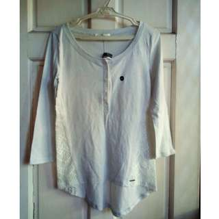 ABERCROMBIE & FITCH Plain Long Sleeves Blouse