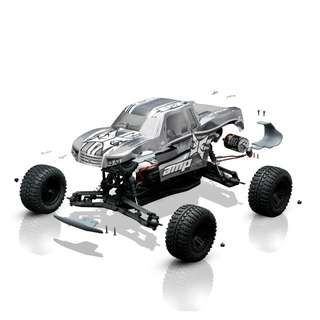 🚚 ECX 1/10 AMP MT 2WD Monster Truck Brushed BTD Kit with Unpainted Body - On Sale Now!