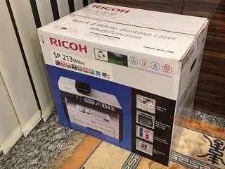 🚚 RICOH Black & White Laser Multifunction Printer (SP 213SFNw) #CarouPay