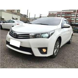 2015年ALTIS白色S+跑2萬☆可議價☆大桃園優質二手中古車買賣