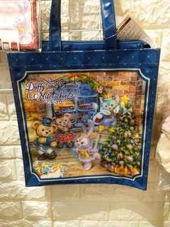 日本迪士尼聖誕版 達菲系列 環保袋