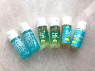 Bliss face wash and body travel set
