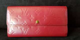 Authentic LV vernis sarah wallet