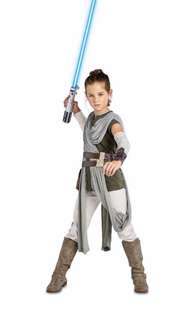 Authentic Disney Star Wars Rey Costume Cosplay Halloween