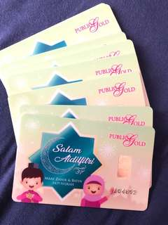Aidilfitri 1g 999.9 Gold Bar Card