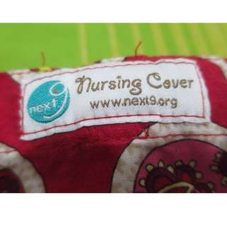 Next9 Nursing Cover Red Printed