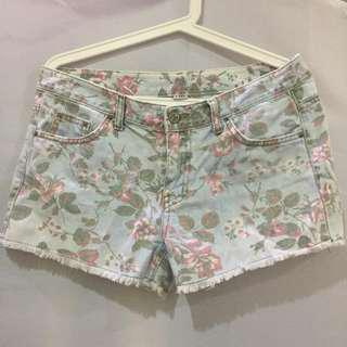 Korean Floral Shorts