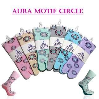 Kaos Kaki Aura Motif Circle