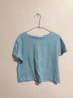 🚚 韓製 天空藍短袖上衣