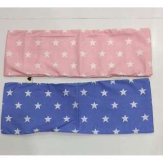 🚚 Stars in Blue and Pink Beansprout husk pillow pink for girl baby newborn handmade gift for new born, not make of buckwheat