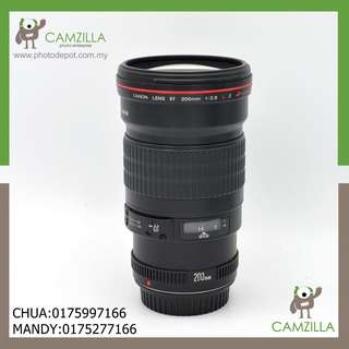 USED CANON LENS EF 200mm 1:2.8 L II