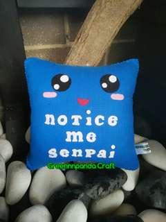 Notice Me Senpai Square Pillow