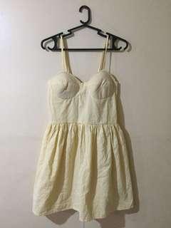 Yellow Stripe Corset dress