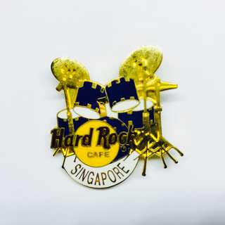 Hard Rock Cafe Pin: Singapore, Blue Drums