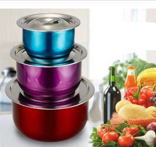 3pcs Stainless Steel Pot