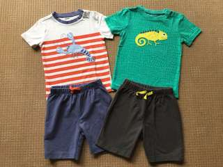 (2 yrs old) Pekkle shirt and shorts set