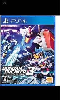 收Gundam breaker 3