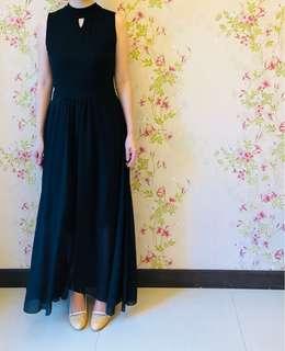 Black Maxi Dinner Dress