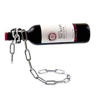 紅酒架 鐵鏈造型 鐵鍊酒樽架 香檳架 Metal Chain Red White Wine Bottle holder