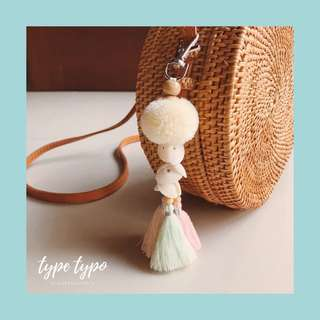 Boho Pom-pom Key Chain