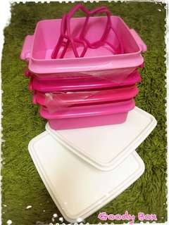 Tupperware 4 Tier Pink Goody Box Container
