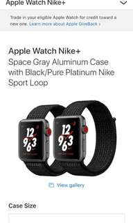 38mm Space Gray Aluminum Case with Black/Pure Platinum Nike Sport Loop