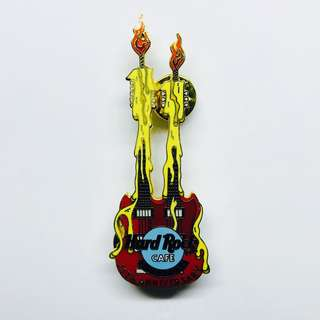 Hard Rock Cafe Pin: Singapore, Guitar, 11th Anniversary