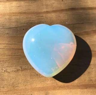 Opalite heart small
