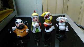 Vintage Journey To The West ceramic figurines.
