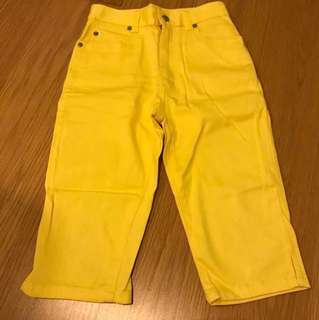 Uniqlo kids yellow pants size 140