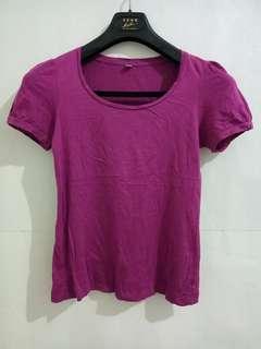 🚚 《二手出清!便宜賣》紫色素面T-shirt