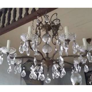 Antique Vintage 8-bulb Chandelier