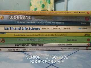 Senior Highschool Books for Sale