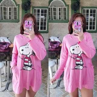 Jacket Hoodie Dress Snoopy