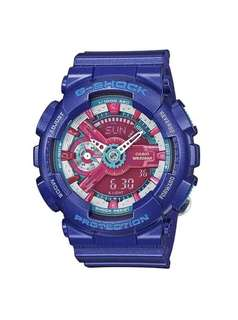 Casio G-Shock GMAS110HC-2A S Series Violet & Red Watch for Women