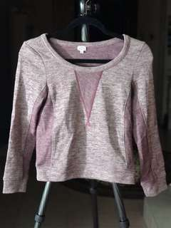 Wilfred mauve pink wool knit long sleeve top