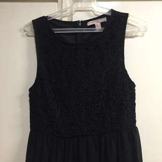 Forever 21 Black Dress with Embroidery and Beads