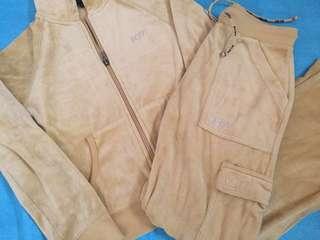 BCBG Mustard Yellow Velveteen Sweater & Pants