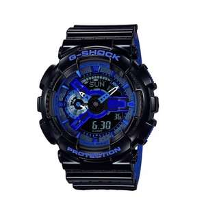 Casio G-Shock GA110LPA-1A Anadigi Punching Pattern Gloss Black Watch