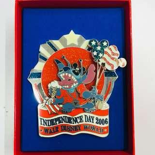 美國迪士尼 Disney Stitch 史迪仔 Jumbo 珍寶 限量 LE 750 pin 襟章 徽章