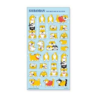 Only 4 Instock! (Mix & Match)*Mind Wave Japan - ShiBanBan Pale Blue theme Stickers