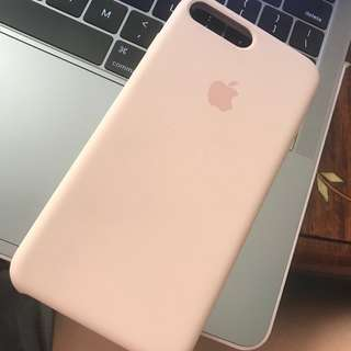 iPhone 7 Plus Leather Case - Light Pink