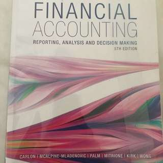 ACCT 2062 Financial Accounting and Analysis Textbook and Materials