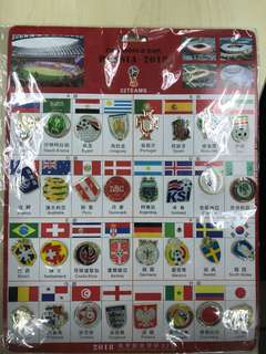 World Cup 2018 Country Soccer Badges