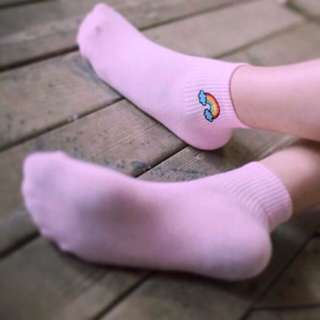 Rainbow Plain Socks