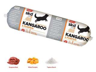 Prime 100 Single Protein Diet (SPD) Cooked Roll Kangaroo & Pumpkin Flavor (2kg) for dogs