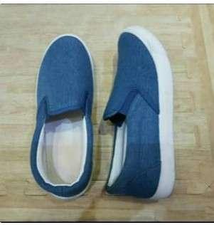 Sepatu slipon sepatu import sepatu biru sepatu blue sepatu kets sepatu sekolah slop