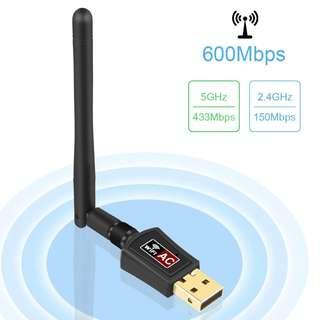 982. 2.4GHz (150Mbps)/5GHz (433Mbps) WiFi Dongle