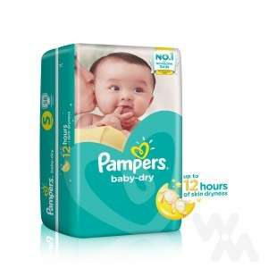 Pampers Baby-dry tape S 58s